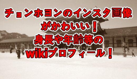 チョンホヨンのインスタ画像がかわいい!身長や年齢等のwikiプロフィール!