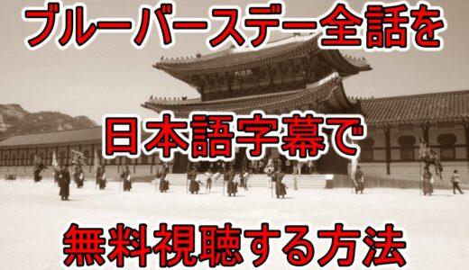 ブルーバースデー全話の無料動画を日本語字幕で見れる視聴方法!