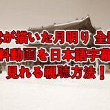雲が描いた月明り全話の無料動画を日本語字幕で見れる視聴方法!