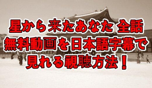 星から来たあなた全話の無料動画を日本語字幕で見れる視聴方法!